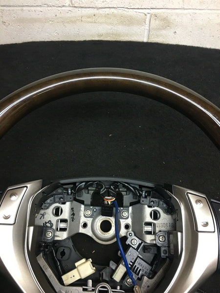 LEXUS RX RX350 2013-2015 Dark Brown Black Steering Wheel W/ Controls OEM