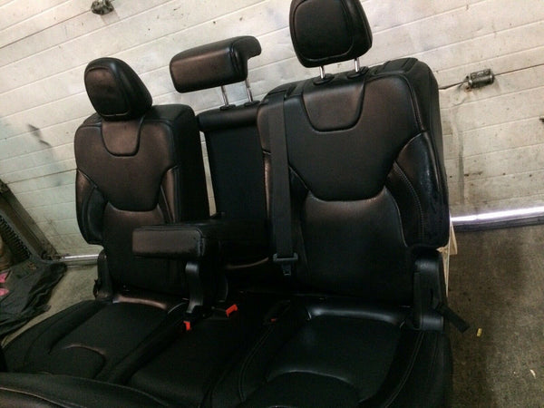 Jeep Cherokee OEM Black Leather Seats Front Passenger Rear Fits 2019