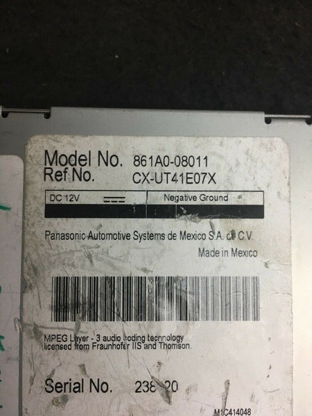 TOYOTA Sienna  Multimedia Communication Part# 861A008011 Fit 2015-2016-2017 OEM