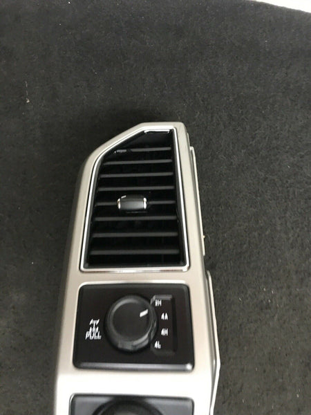 FORD F-150 2015-2019 Light Gray Silver Mid Left Dash Trim Air A/C Vent Duck OEM