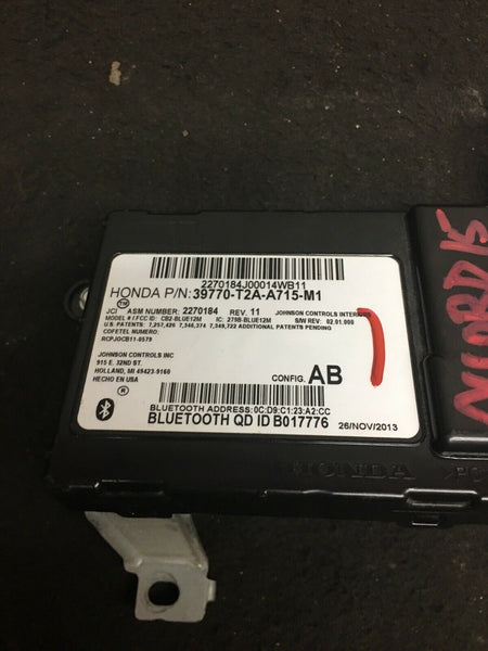 2013-2015 HONDA ACCORD Communication Bluetooth Module 39770-T2A-A715-M1 OEM
