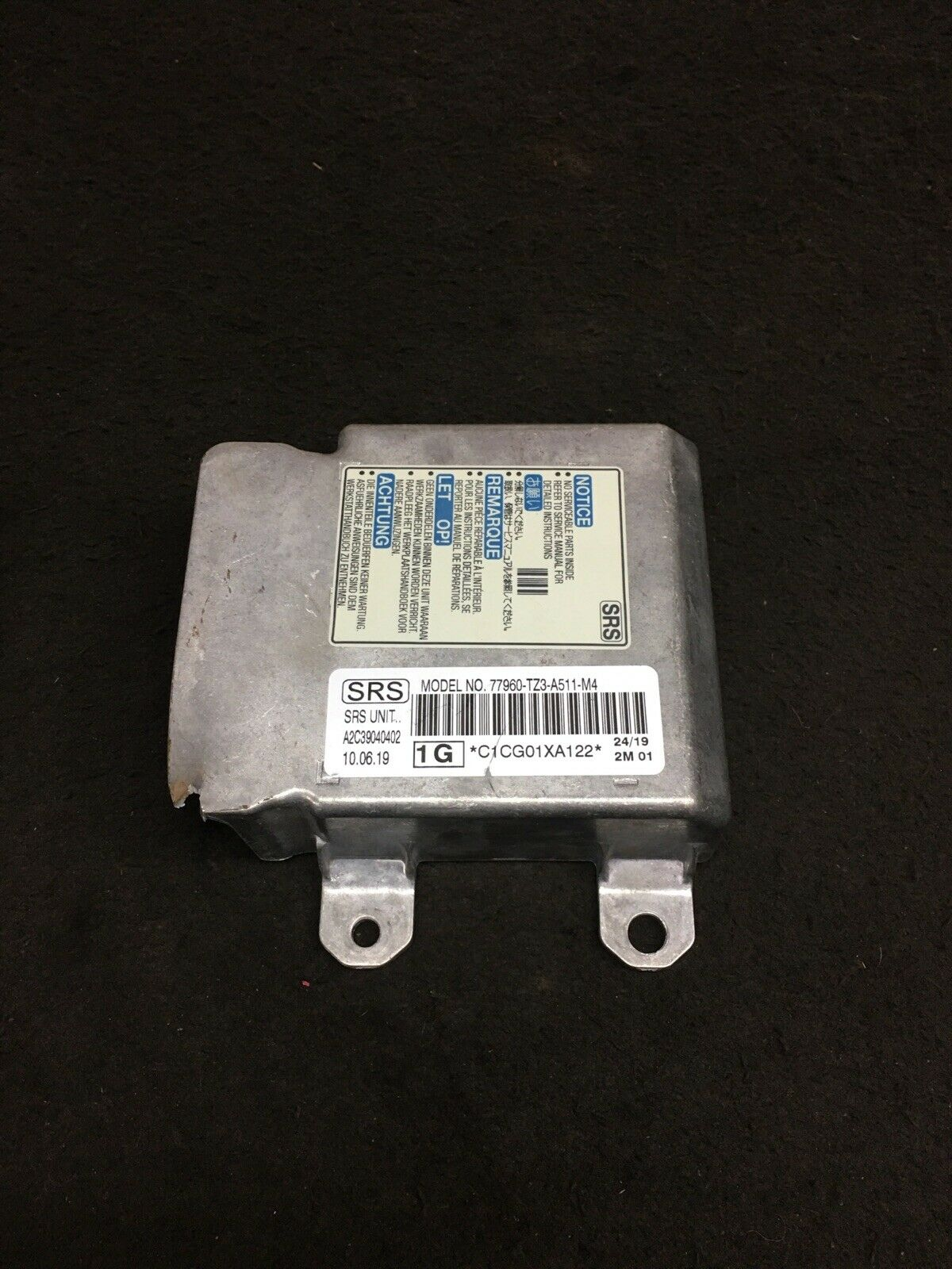 ACURA TLX 2018-2020 SRS Module 77960-TZ3-A511-M4 NOT DEPLOYED OEM