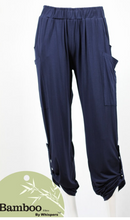 Load image into Gallery viewer, Navy Bamboo Pocket Pant