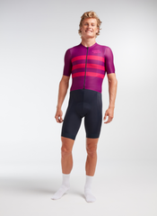 Men's Racing Aero SS Jersey - Tonal Plum