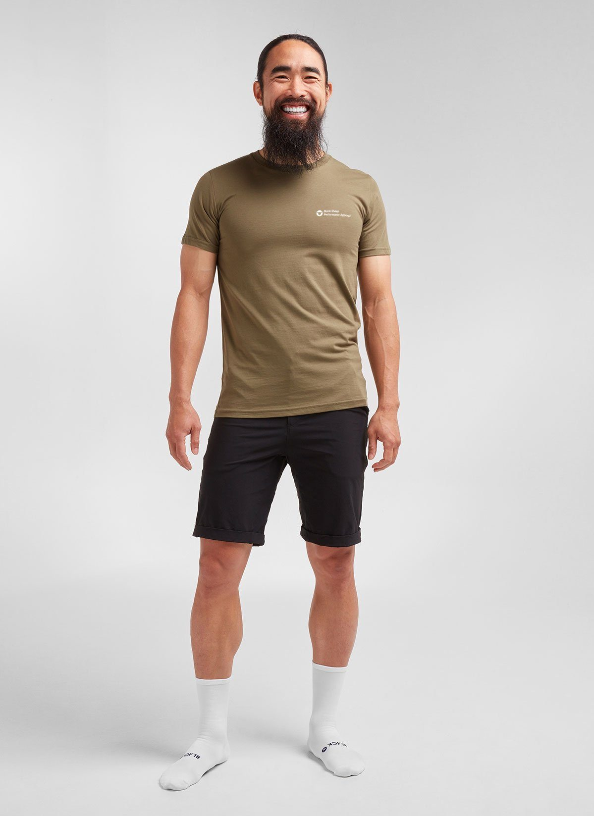Men's SS Crew Tee Signature - Khaki