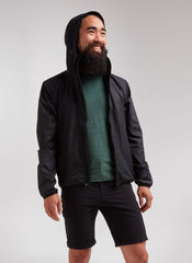 Adventure Splash Hoodie Jacket - Black