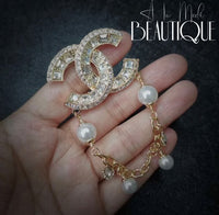 CC Gold/Pearls Brooch