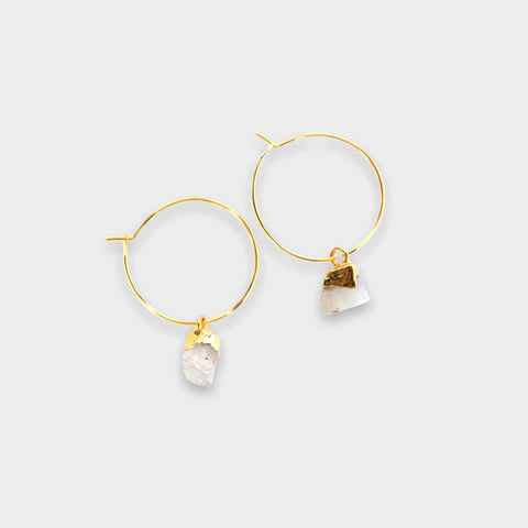 Bella Earrings - Moonstone