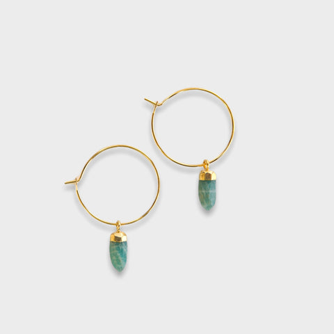 Berklee Earrings - Amazonite