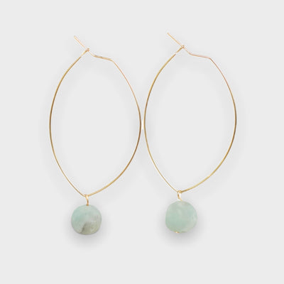 Lenny Gemstone Earrings-Amazonite