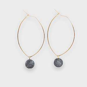 Lenny Gemstone Earrings-Labradorite