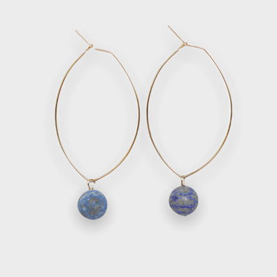 Lenny Gemstone Earrings-Lapis Lazuli