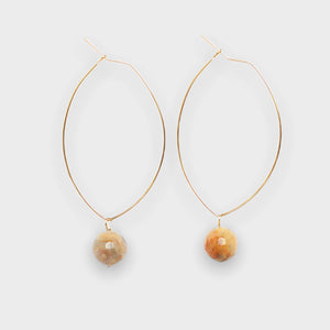 Lenny Gemstone Earrings-Mexican Agate