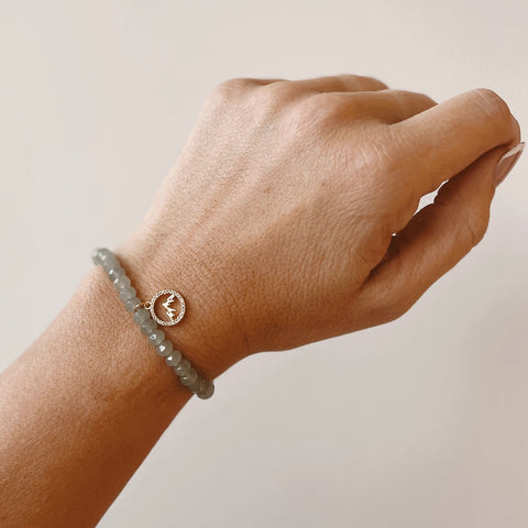 """Keep Climbing"" Stretch Bracelet"