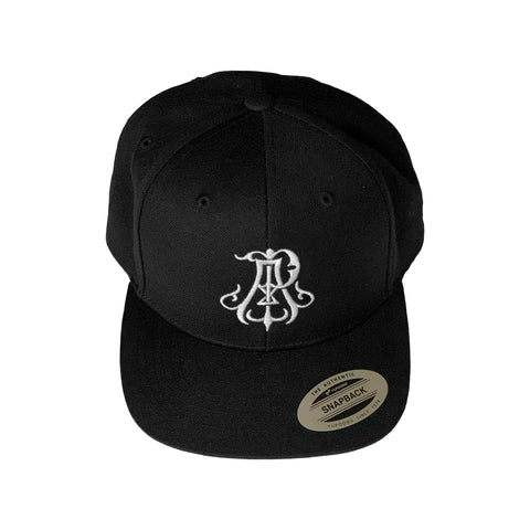Monogram Snapback Hat - Black