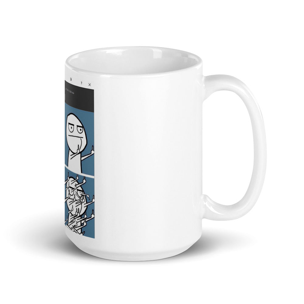 Autodesk Maya Crash Meme Mug - for CG and 3D artists