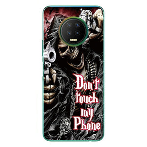Phone Bags & Cases For Infinix Note 7 Note 7 Lite 2020 Soft TPU Case Soft Silicone Back Covers Painted Shell
