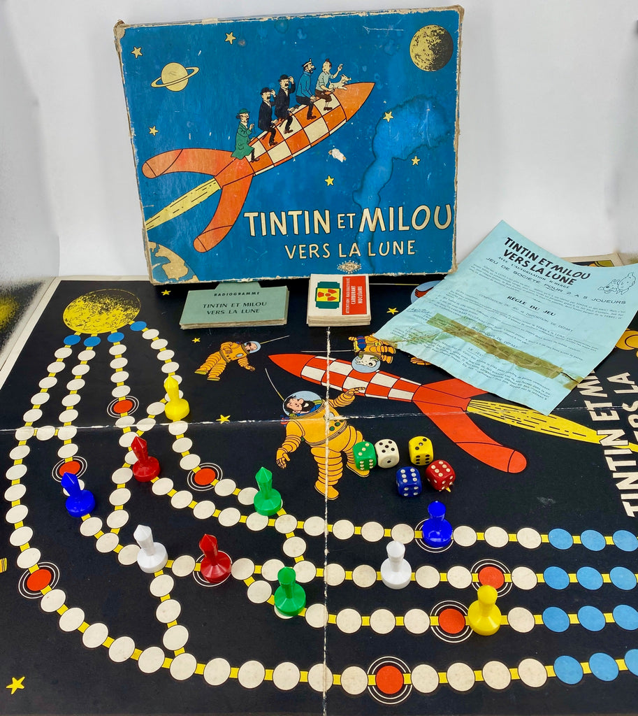 Early Tintin and Snowy - To the Moon Board Game