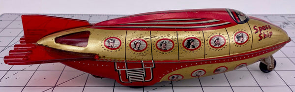Wells Brimtoy 1950s Tinplate Space Ship