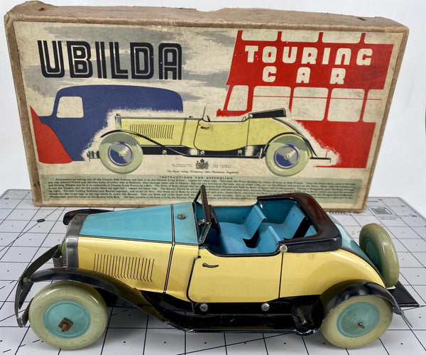 Boxed 1930's Ubilda Chad Valley Touring Car