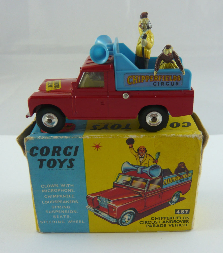 Original Corgi 487 Boxed Chipperfield Land Rover Parade Vehicle