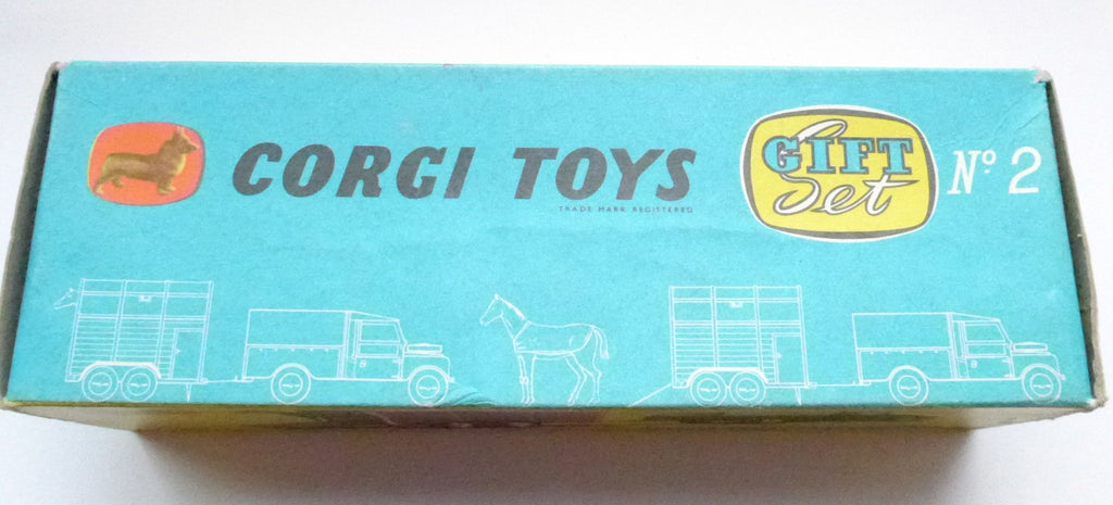 Original Boxed Corgi Gift Set No 2 Land Rover & Pony Trailer