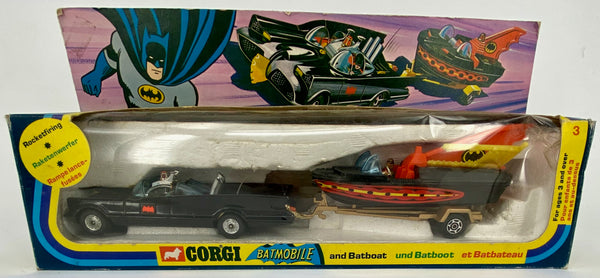 CORGI Gift Set 3 Batman Batmobile and Batboat - second issue