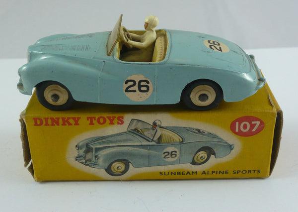 Original Boxed Dinky 107 Sunbeam Alpine