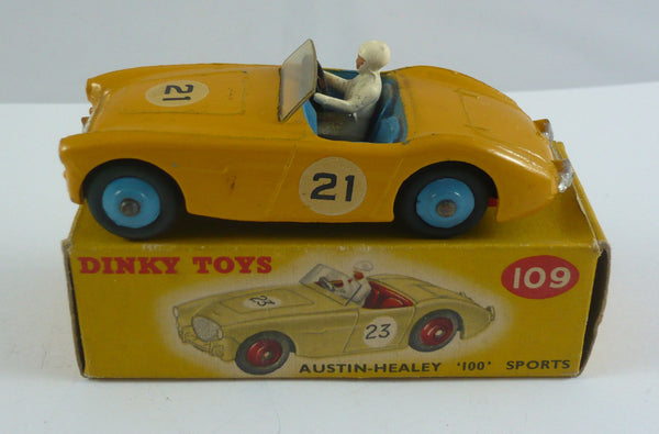 Original Boxed Dinky 109 Austin Healey 100 sports car