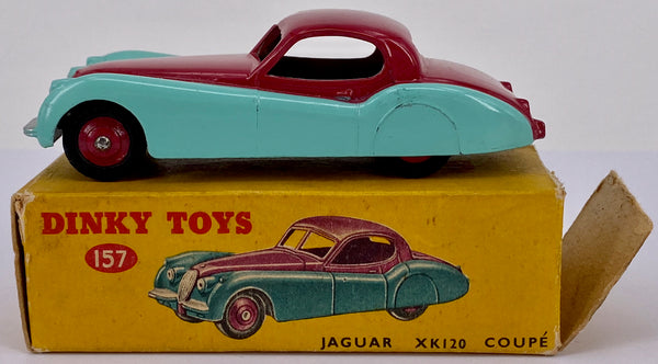 Original Boxed Dinky 157 Jaguar XK120 Coupe Two Tone Colour