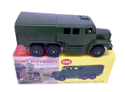 Original Boxed Dinky Supertoys 689 Medium Artillery Tractor