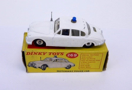 Original Boxed Dinky 269 Jaguar Motorway Police Car