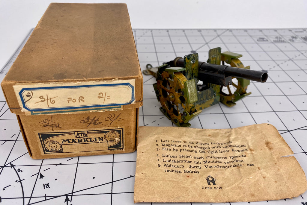 Boxed Marklin Field Gun Cannon 8039/0