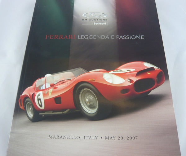 RM Auctions Ferrari Auction Maranello 20.05.2007 Catalogue