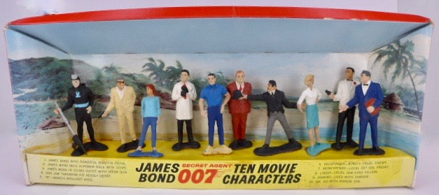 Gilbert James Bond Ten Movie Characters, boxed