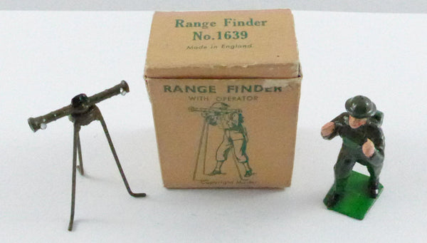 Original Boxed Britains 1639 Range finder with operator