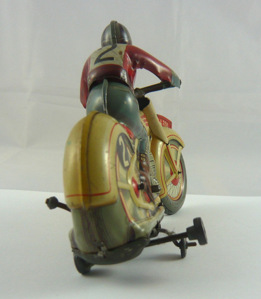 Original Technofix Early Post War Racing Motorcycle and Rider