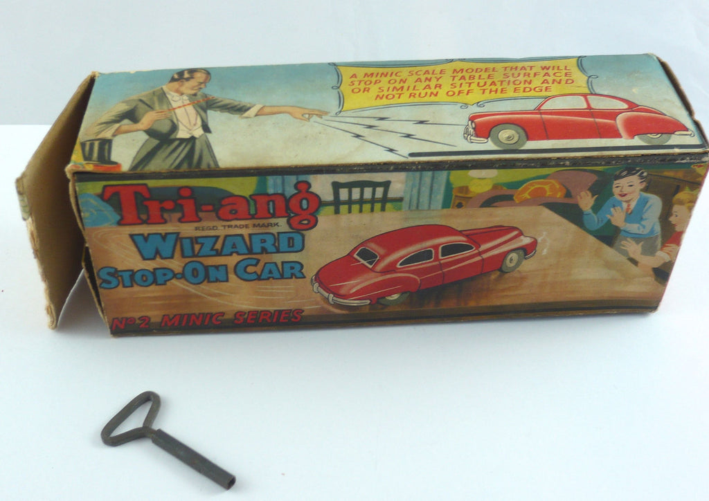 Original Boxed Tri-ang No 2 clockwork car with original key