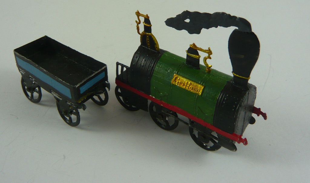 Kingdom of Saxony Railway train flat figure style 28mm scale circa 1850
