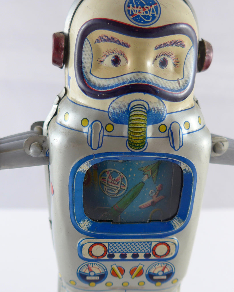 Boxed ALPS Mechanical Television Spaceman circa 1965