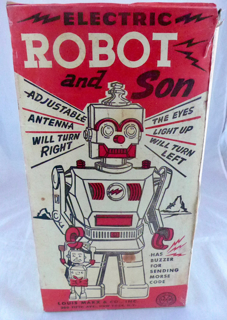 Boxed Louis Marx & Co Robot and Son