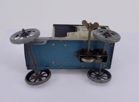 Bing Tinplate Cars and Double Garage set 1920's