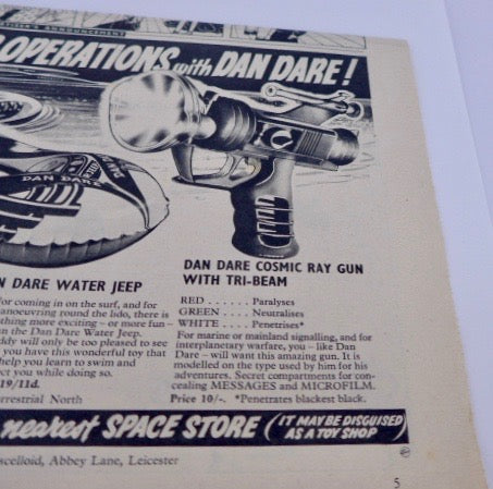 Original Boxed Dan Dare Cosmic Ray Gun - 1954