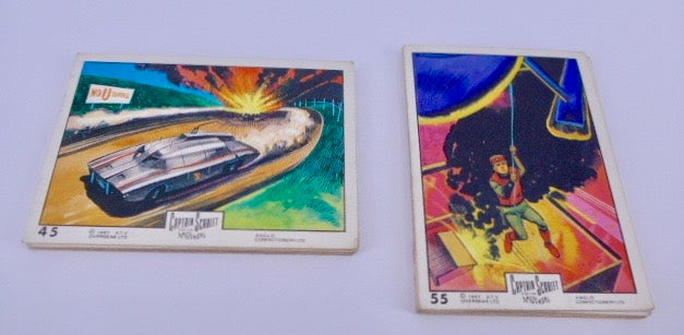 1967 Captain Scarlett Anglo Confectionery FULL SET 66 trading cards