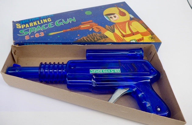 Original Boxed 1960's Space Toy Masudaya Sparking Space Gun