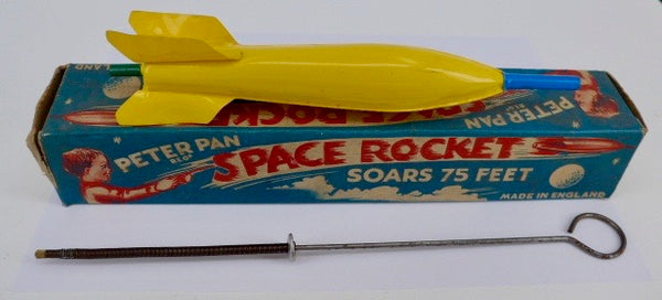1960's Original Boxed Peter Pan Space Rocket Space Toy