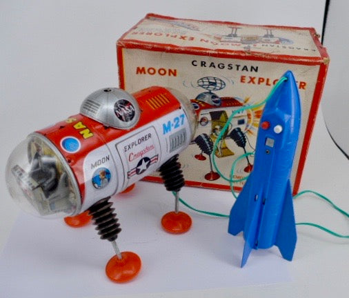 Original Boxed Space Toy Cragstan-Yonezawa M-27 Moon Explorer 1963