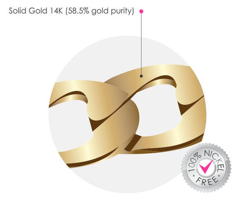 Solid Gold 14k Definition