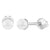 925 Sterling Silver White Simulated Pearl Screw Back Baby Girl Kids Earrings