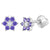 925 Sterling Silver CZ Flower Infant Toddler Baby Earrings Screw Back